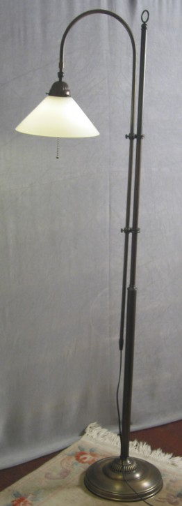 Stehlampe Messing 1flammig Schusterschirm