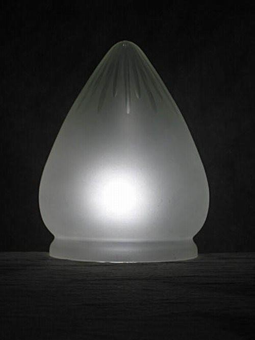 Sternschliff Lampenglas in Zapfenform (20 cm)