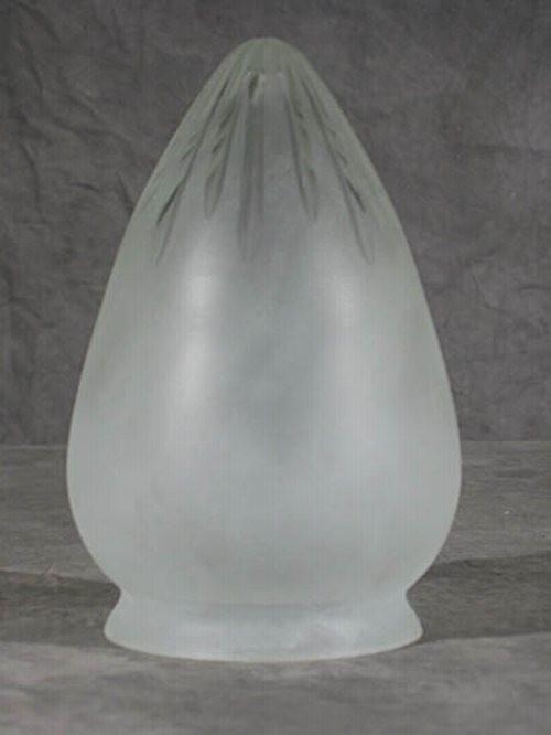 Sternschliff Lampenglas in Zapfenform (10 cm)