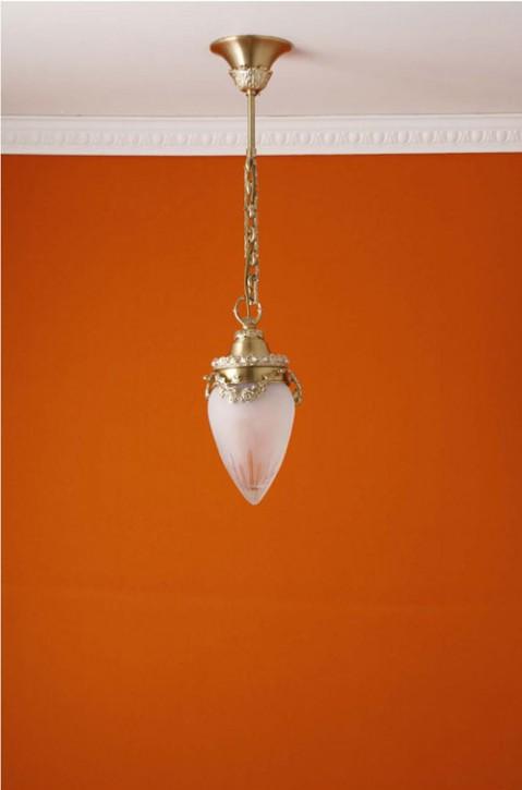 Deckenpendel Messing hell Schliffglas (10 cm)
