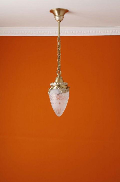 Deckenpendel Messing hell Sternschliffglas (10 cm)