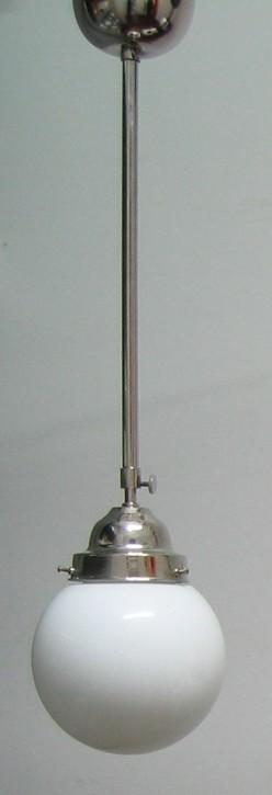 Deckenlampe Bauhaus Stange verstellbar Chrom Kugel (20 cm)