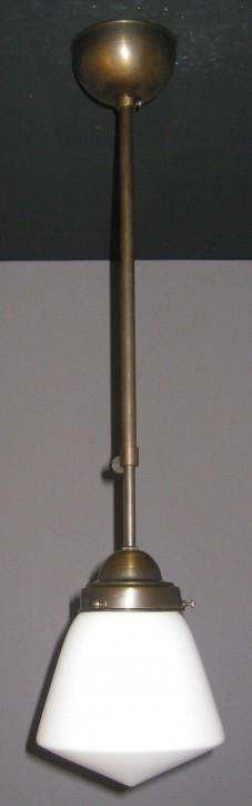 Deckenpendel Bauhaus brüniert mit Tropfenglas Ø 16 cm