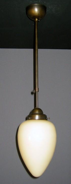 Deckenpendel brüniert Zapfenglas cremefarben