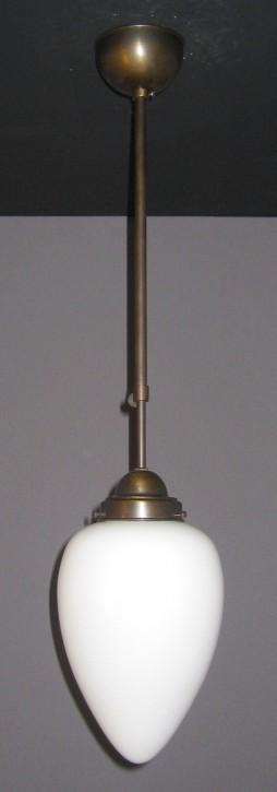 Deckenpendel brüniert mit opalem Zapfenglas