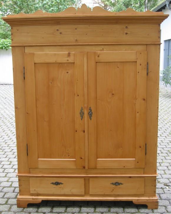 Kleiderschrank 2Türer Weichholz Spätbiedermeier