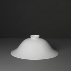 Lampenglas Helmform opal-weiß (30 cm)