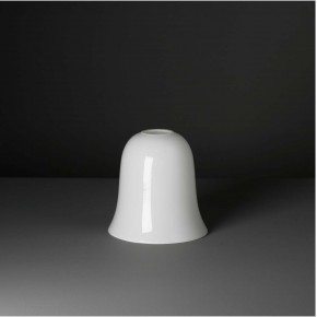 "Lampenglas  ""Kelch"" opal-weiß (20 cm)"