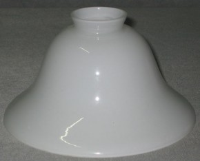 Lampenglas Helmform opal-weiß (25 cm)