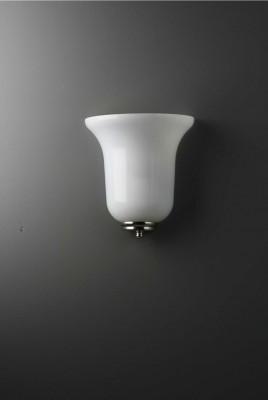 Wandleuchte Tulpenglas opal 20 cm