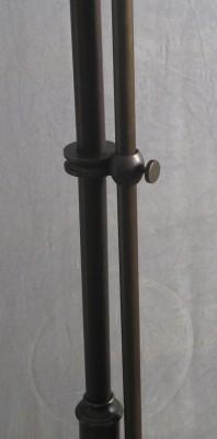 Stehlampe Messing 1flammig mit Gelenk Schusterschirm