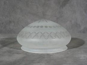 Kuppelschirm mit Stern und Kreuzschliff (25 cm)
