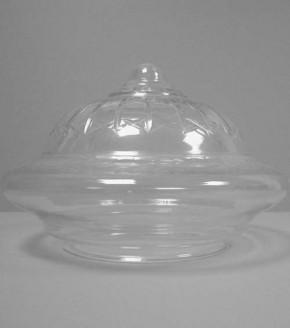 Kuppelschirm Klarglas Stern und Kreuzschliff (34 cm)