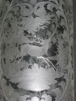 Biedermeier Vase mit Schliffmotiven absolute Rarität