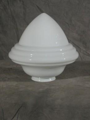 """Lampenglas """"Saturn"""" opal-weiß (30 cm)"""