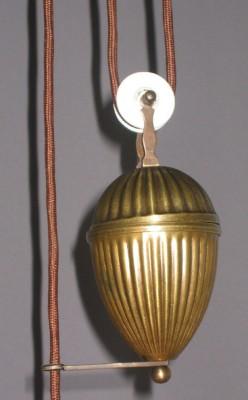Zuglampe Messing 1flammig mit Opalglas