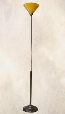 Stehlampe Deckenfluter Messing Schusterschirm