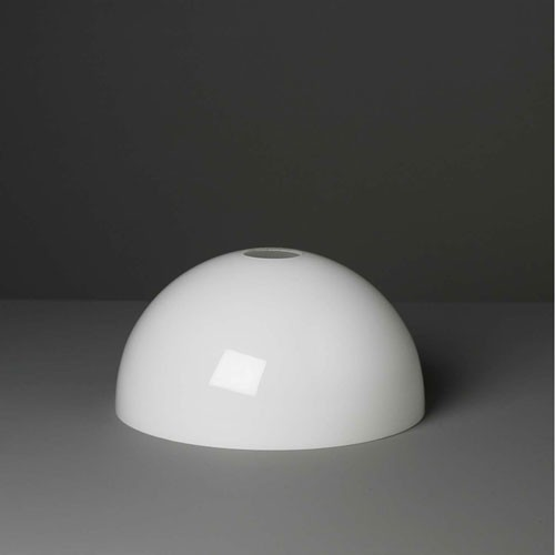 Lampenglas Halbkugel opal-weiß (25 cm)
