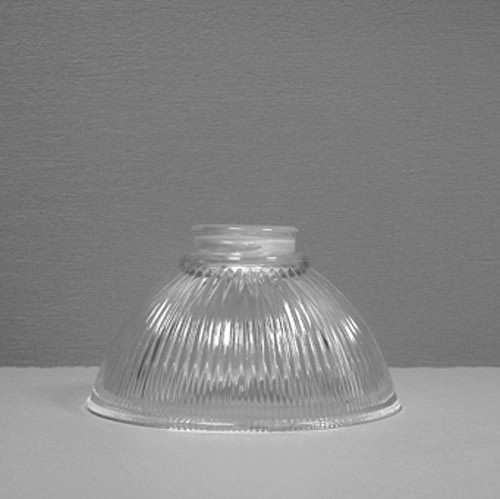Lampenglas Jugendstil Rockform Klarglas Ø 16 cm