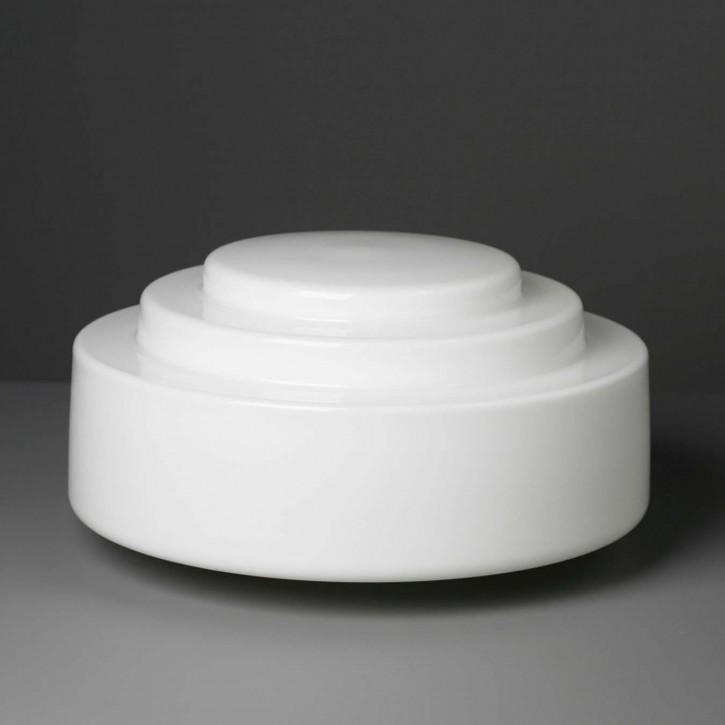 Lampenglas Bauhaus opal-weiß Stufen Ø 34 cm