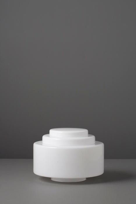 Lampenglas Bauhaus opal-weiß Stufen Ø 20