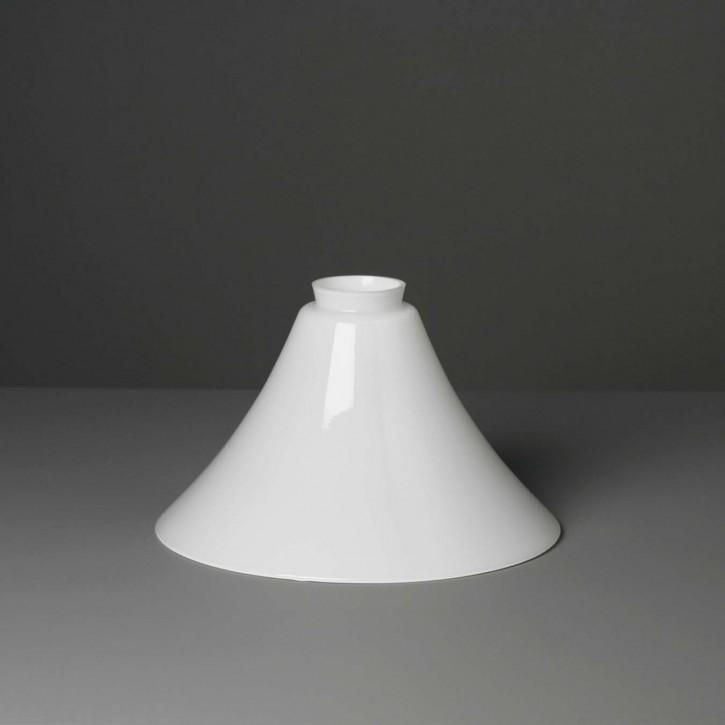 Lampenglas Trichter opal-weiß (25 cm)