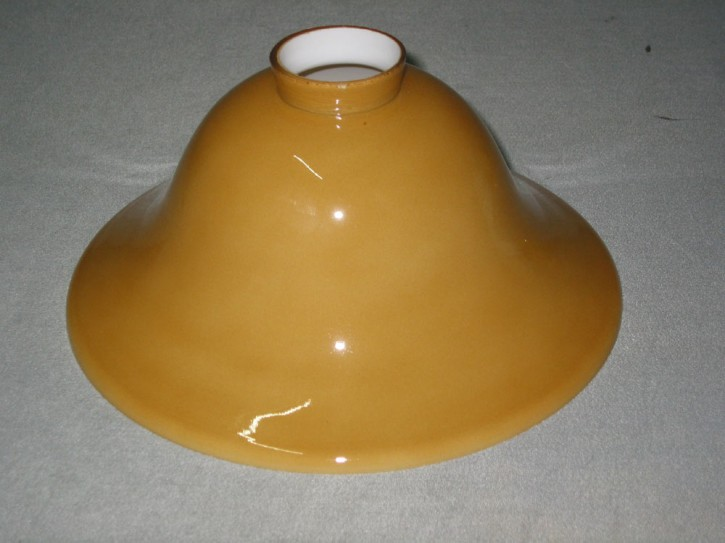 Lampenglas Helmform cognacfarben Ø 20 cm