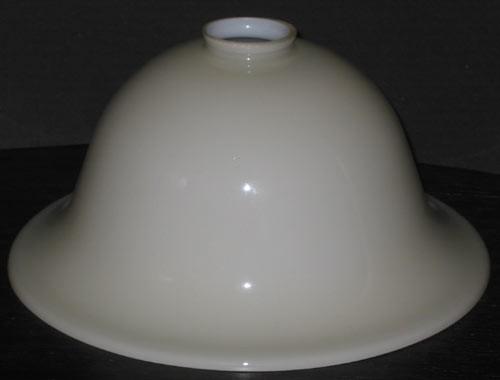 Lampenglas Helmform beigefarben hoch Ø 30 cm