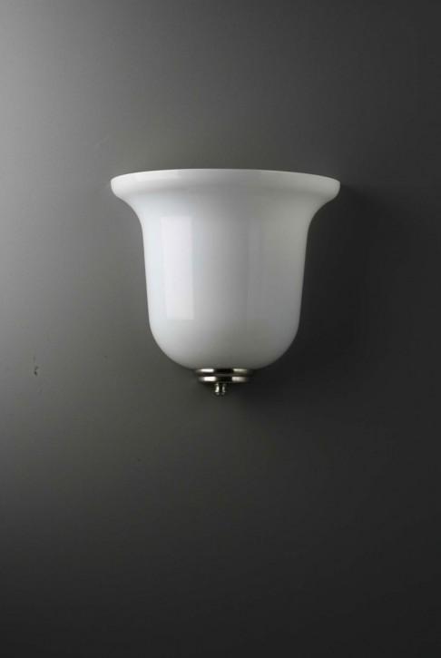 Wandleuchte Tulpenglas opal 25 cm