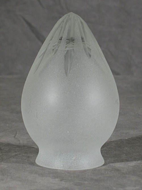 Sternschliff Lampenglas in Zapfenform (6 cm)