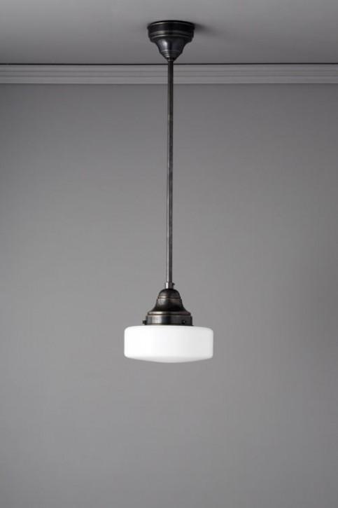 Deckenlampe Stange Rundglas Ø 20 cm
