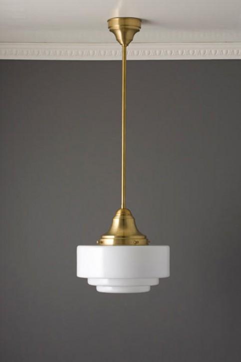 Deckenlampe Stange mit abgestuftem Glas Ø 29 cm