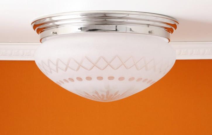 Deckenring mit Sternschliffglas (30 cm)