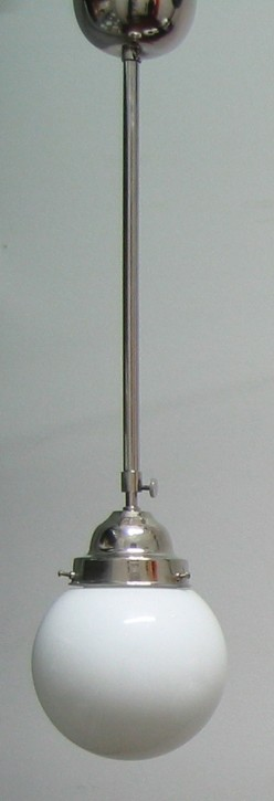 Deckenlampe Bauhaus Stange verstellbar Chrom Kugel (15 cm)