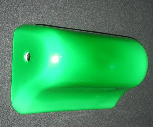 Ersatzglas Bankerleuchte grünfarben Wellenform