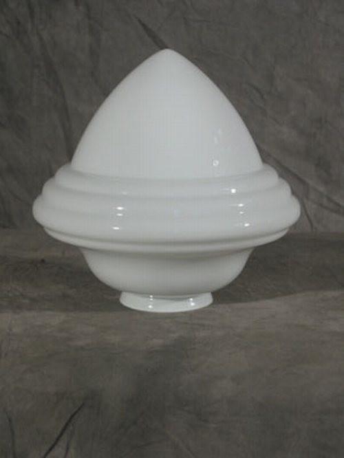 """Lampenglas """"Saturn"""" opal-weiß (15 cm)"""