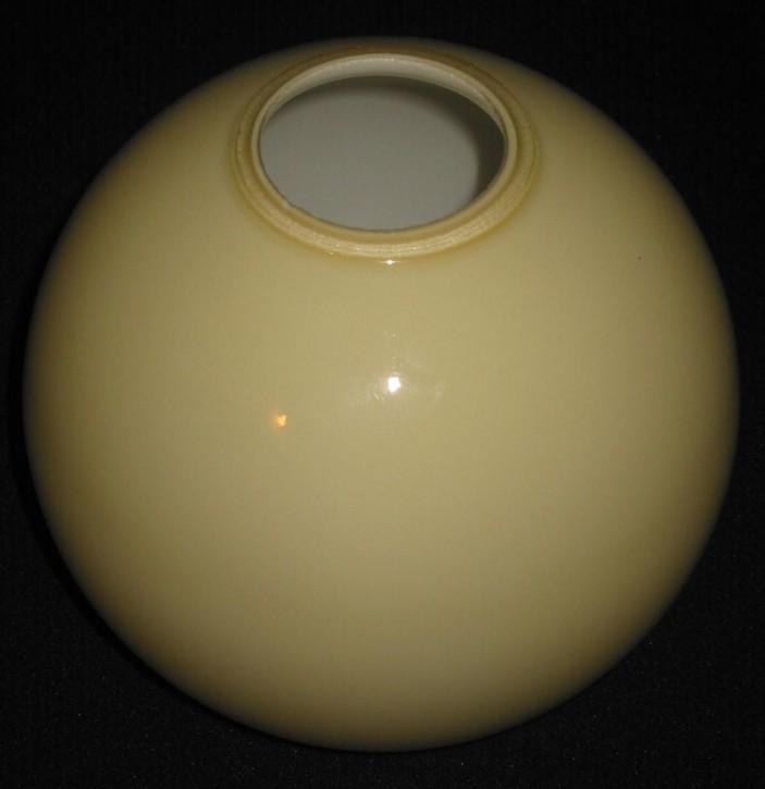 Lampenglas kugelform offen beige