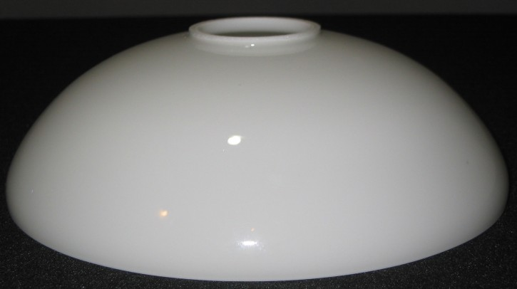 Lampenglas flache Schale opal