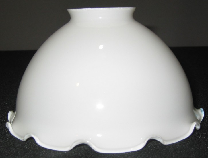 Lampenglas Rockform Wellenrand opal