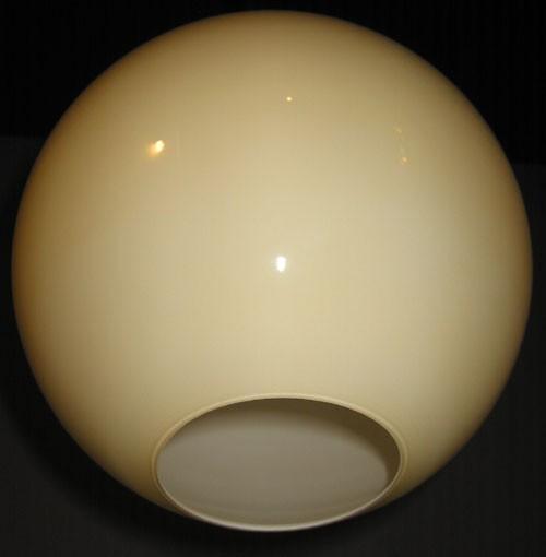 Glaskugel offen beige Ø 30 cm