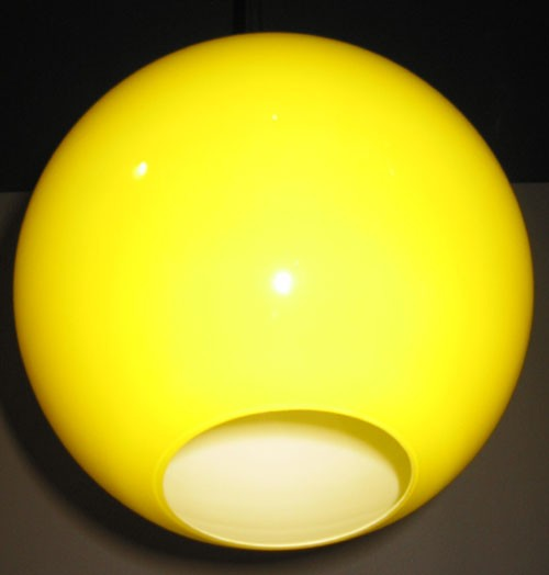 Glaskugel offen gelb Ø 25 cm