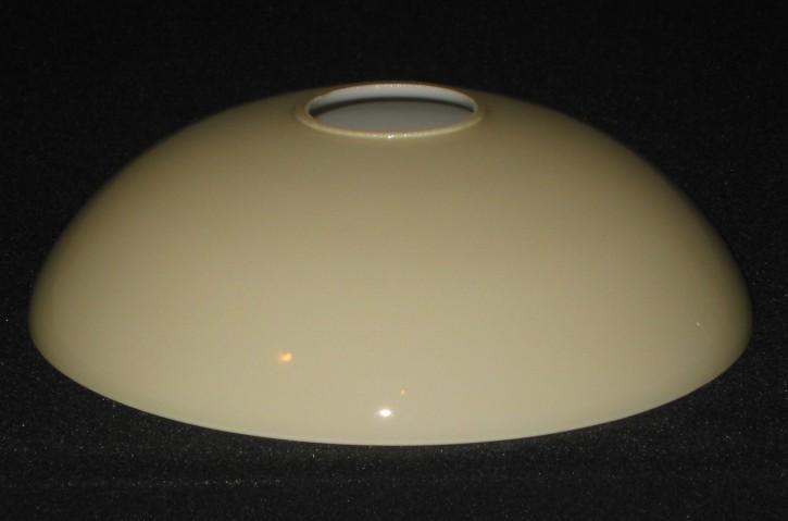 Lampenglas flache Schale beige