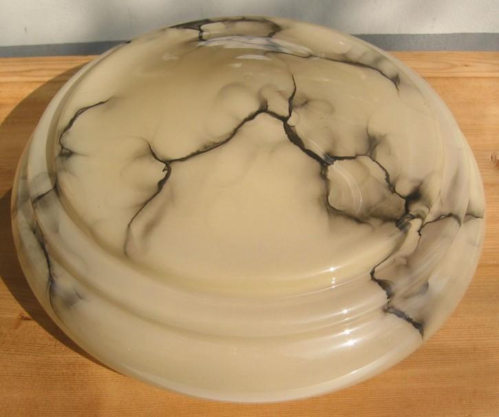 Glasschirm marmoriert Nr 2 beige/schwarz