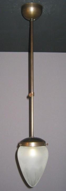 Deckenpendel brüniert mit Schliffzapfenglas Ø 10cm