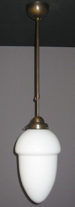 Deckenpendel Bauhaus brüniert mit abgestuftem Tropfenglas