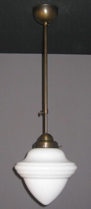 Deckenpendel Bauhaus brüniert Saturnglas Ø 20 cm