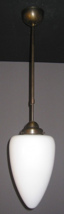 Deckenpendel Bauhaus brüniert mit Zapfen Ø 19 cm