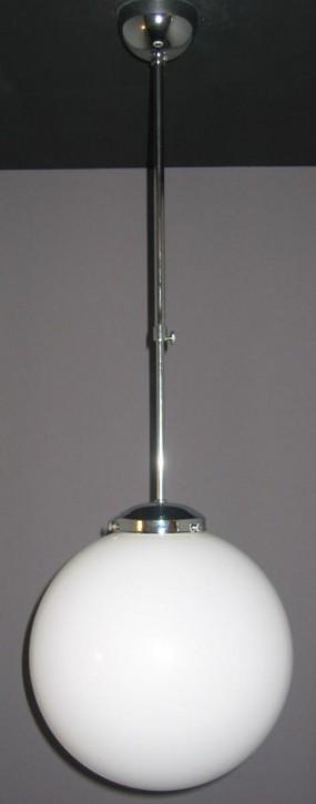 Deckenlampe Bauhaus Stange verstellbar verchromt Kugel (30 cm)