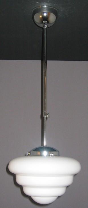 Deckenpendel Bauhaus verchromt Kuppelschirm