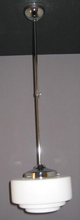 Deckenleuchte Bauhaus, verstellbar, abgestufter Kuppelschirm, opal